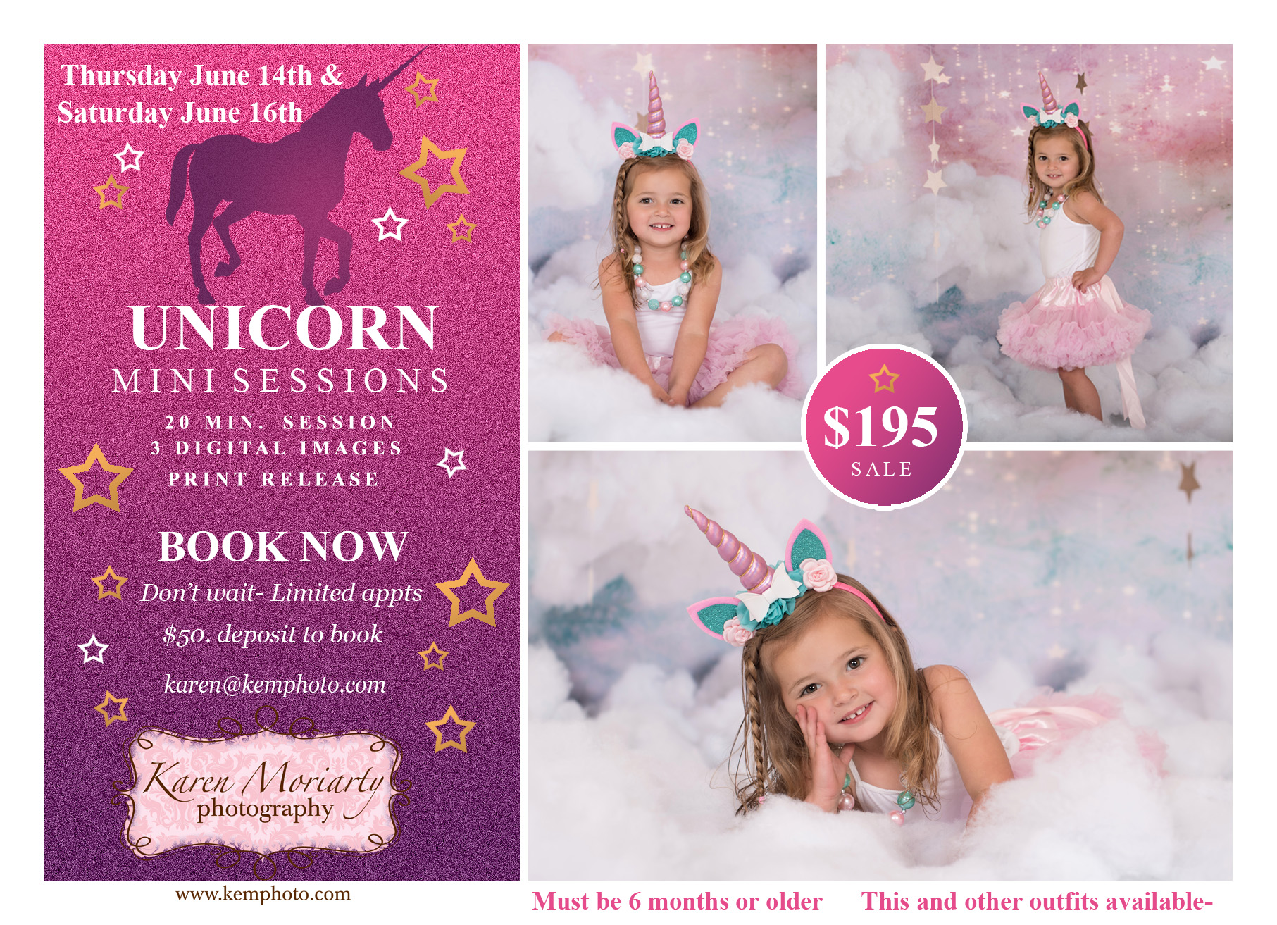 unicorn photographer kids franklin ma. fun whimiscal